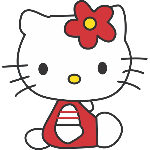 Hello Kitty DIY decals stickers version 14